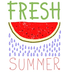 Fresh summer card design vector