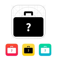 Secret case icon vector