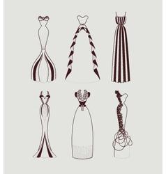 Floor length woman dresses vector
