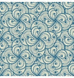 Floral beautiful blue seamless pattern vector