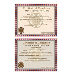 Completion certificates vector