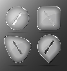 Chisel glass buttons vector