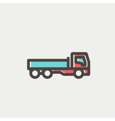 Cargo truck thin line icon vector