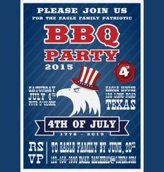 Barbecue party invitation and response card vector