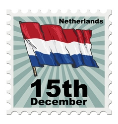 Post stamp of national day of netherlands vector