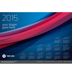 Calendar 2015 template week starts monday vector