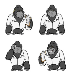 Gorilla lab suit collection vector