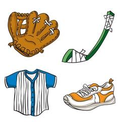 Kids sports equipment vector
