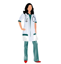 Female doctor vector