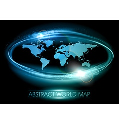 World abstract shine blue vector