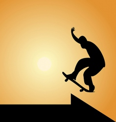 Skateboard silhouette vector