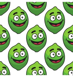 Green avocado fruit seamless pattern vector