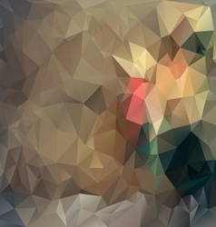 Brown beige polygonal triangular pattern vector