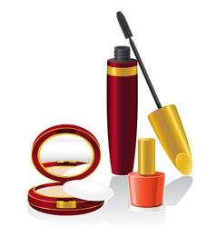 Set cosmetics 02 vector