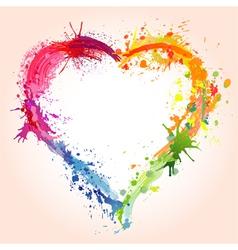 Grunge valentines day heart vector