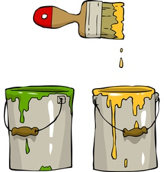 Buckets of paint vector