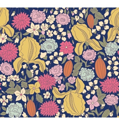 Color floral sketch seamless vector