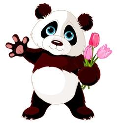 Happy panda vector