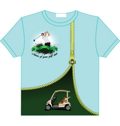 Golf tshirt vector