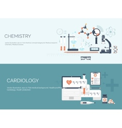 Flat medical and chemical vector