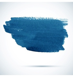 Blue paintbrush stain vector