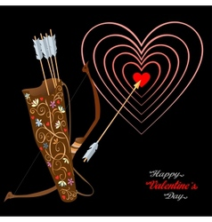 Arrows and heart vector