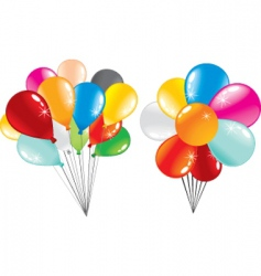 Balloons stack vector