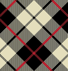 Black and beige fabric texture diagonal pattern vector