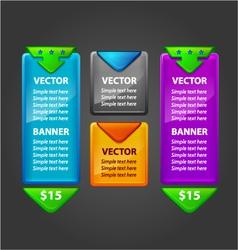 Banner set for sale or download vector