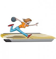 Female bowler vector