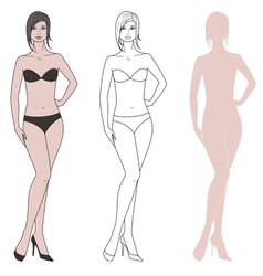 Women figure vector