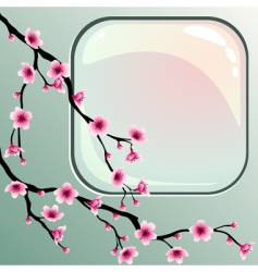 Pink blossoms vector