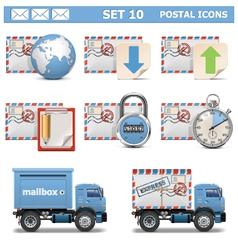 Postal icons set 10 vector