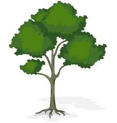 Tree cartoon for you design vector