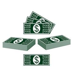Set of dollars vector