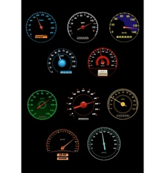 Sppeedometers and speed dials vector