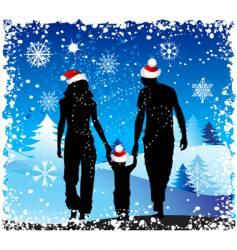 Christmas holiday happy family vector