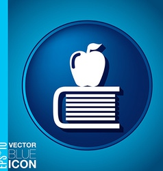 Books tower with apple icon education sign vector