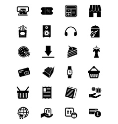 Shopping icons 5 vector