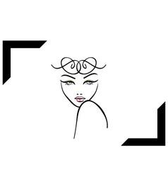 Model shoot- photography logo vector
