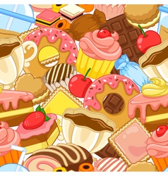 Sweets pattern vector