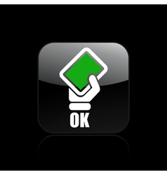 Single isolated ok icon vector