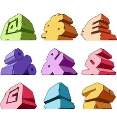 Multicolored alphabet symbols vector