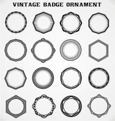 Vintage badge ornament vector