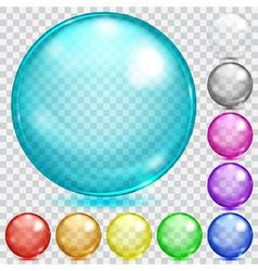 Multicolored transparent spheres vector