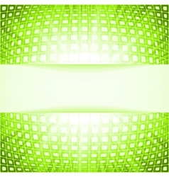 Green techno flare burst squares vector