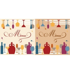 Menu template for bar or restaurant vector