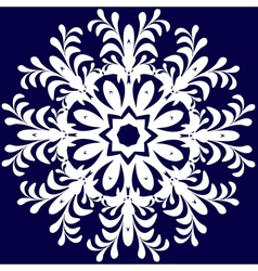 Beautiful lace pattern the circular background vector