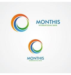 Abstract month or sun logo vector