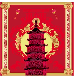 Chinese new year horseabstract christmas card vector